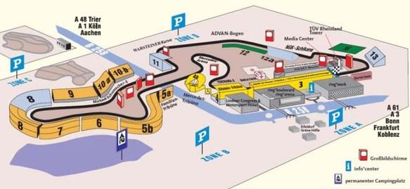 Nürburgring 2015 Streckenplan