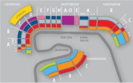 Hockenheimring 2014 Streckenplan