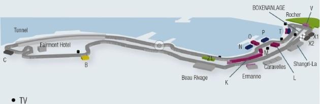 F1 Monaco 2015 Strecke