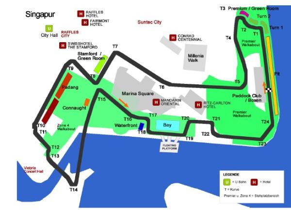 Formel 1 Singapur 2015 Plan