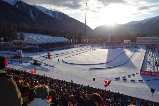 Biathlon Antholz Tribüne