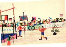 Olympia Zeichnung  70er Jahre