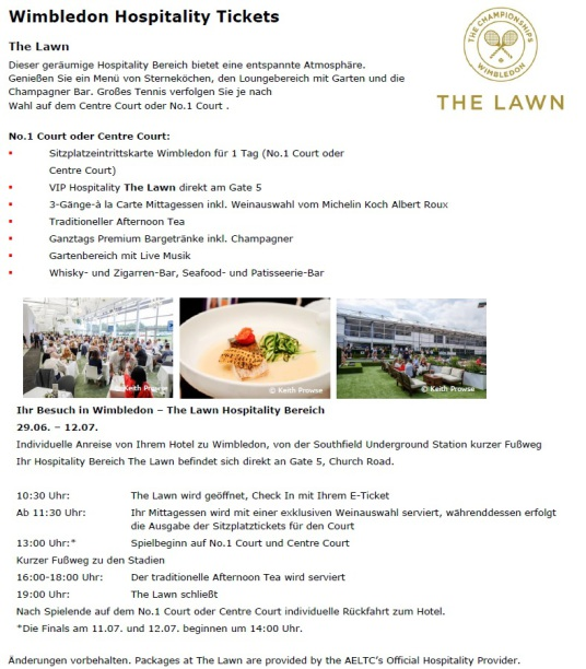 Wimbledon VIP Hospitality The Lawn
