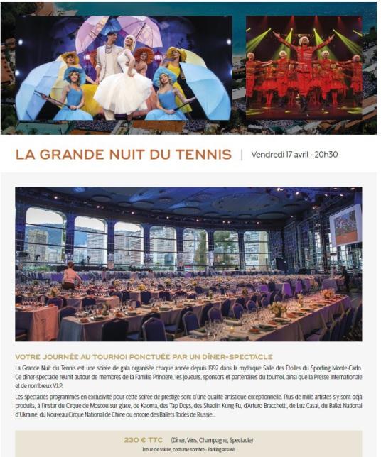 Rolex Masters La Grande Nuit du Tennis